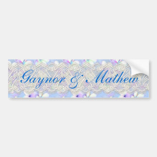 Delicate Flowery and Lace Bumper Stickers