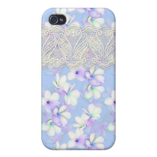 Delicate Flowery and Lace Cases For iPhone 4