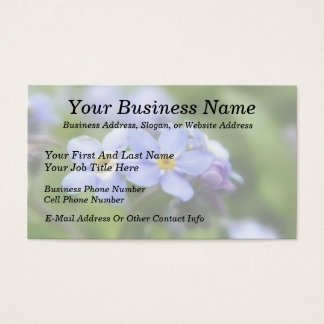 Delicate Forget Me Not Flowers Business Card