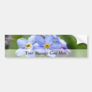 Delicate Forget Me Not Flowers Car Bumper Sticker