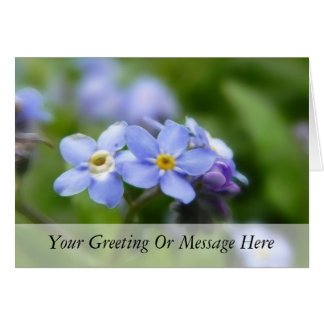 Delicate Forget Me Not Flowers Card