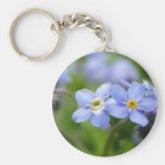 Delicate Forget Me Not Flowers Key Chains