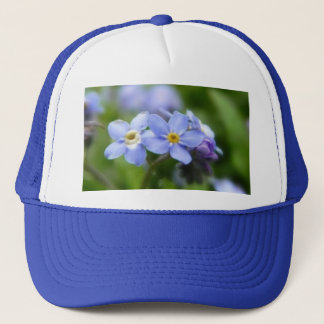 Delicate Forget Me Not Flowers Trucker Hat