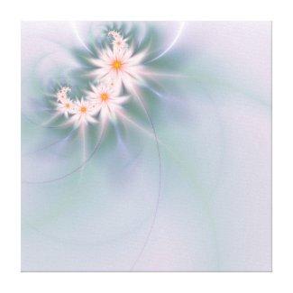 Delicate fractal flowers canvas print