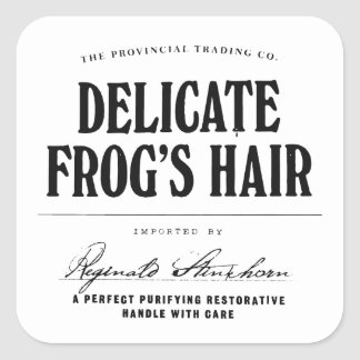 Delicate Frog's Hair - apothecary label Square Stickers