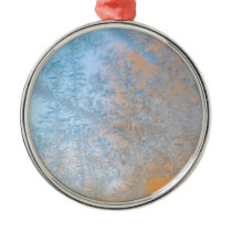 Delicate frost pattern, Wisconsin Metal Ornament