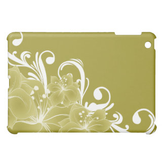 Delicate Gold Floral  Cover For The iPad Mini