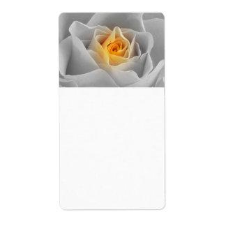 Delicate Gray Rose Label