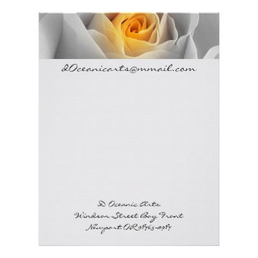 Professional Business Delicate Gray Rose Letterhead