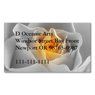 Professional Business Delicate Gray Rose Magnetic Business Card