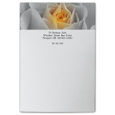 Professional Business Delicate Gray Rose Post-it Notes
