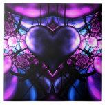 Delicate Heart of Scorpio Ceramic Tile