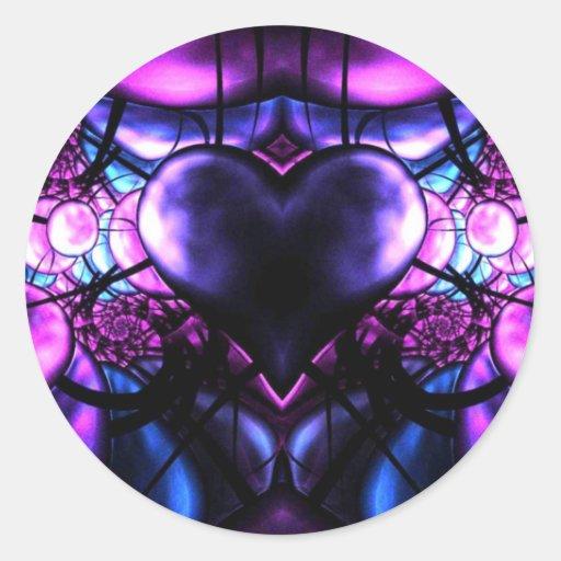 Delicate Heart of Scorpio Classic Round Sticker