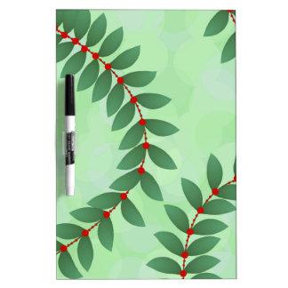 Delicate Holiday Foliage Dry Erase Board