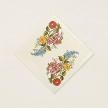 delicate hungarian flowers paper napkins