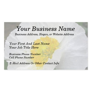 Delicate Iceland Poppy Flower Double-Sided Standard Business Cards (Pack Of 100)