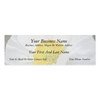 Delicate Iceland Poppy Flower Double-Sided Mini Business Cards (Pack Of 20)
