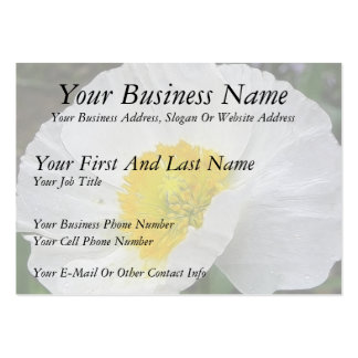 Delicate Iceland Poppy Flower Large Business Cards (Pack Of 100)