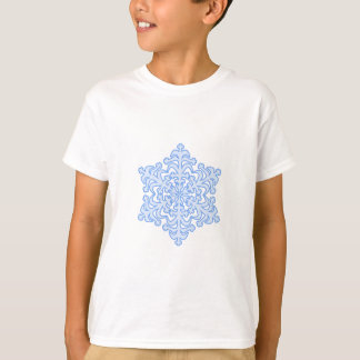 Delicate Icy Blue Winter Christmas Snowflake T-Shirt