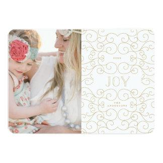 Delicate Joy   Holiday Photo Card