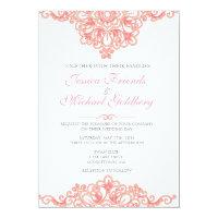 Delicate lace border Wedding Invitations 5x7