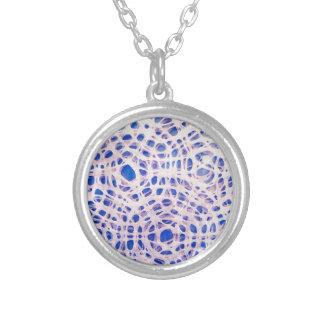 Delicate lavender concentric circles round pendant necklace