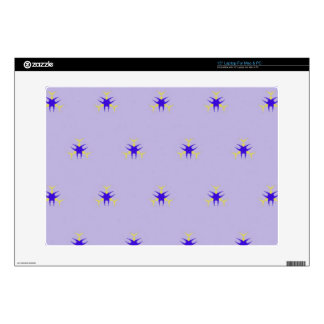 Delicate  lavender Purple Burst Pattern Decal For Laptop