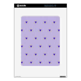 Delicate  lavender Purple Burst Pattern iPad Skin