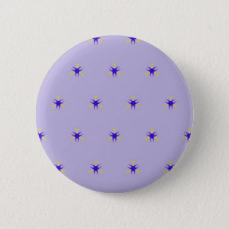 Delicate  lavender Purple Burst Pattern Pinback Button