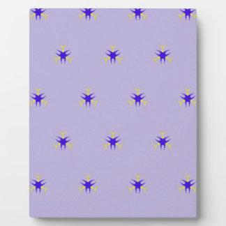Delicate  lavender Purple Burst Pattern Plaque
