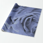 Delicate light blue gray roses flower photo wrapping paper