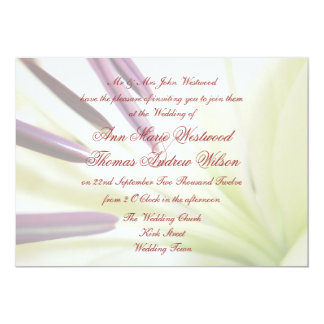 Delicate Lily Floral  Wedding Invitations