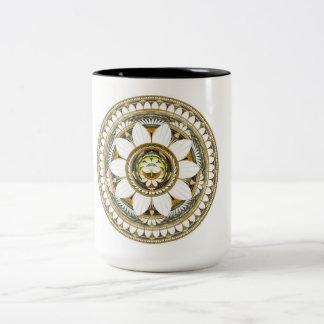Delicate Lily Flowers Two-Tone Coffee Mug
