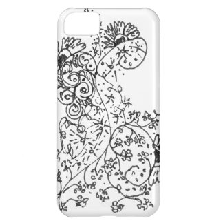 Delicate Line Drawings of Abstract Flower Dance iPhone 5C Cover