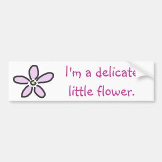 Delicate Little Flower Bumper Sticker