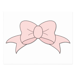 Delicate Little Pink Bow Postcard