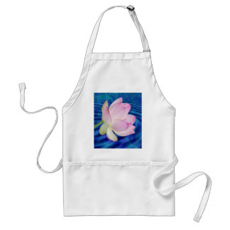 Delicate Lotus flower and meaning Adult Apron