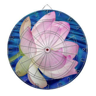Delicate Lotus flower and meaning Dartboard With Darts