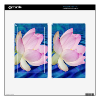 Delicate Lotus flower and meaning Decal For Kindle Fire