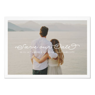 Delicate Love Save the Date Wedding Overlay 5x7 Paper Invitation Card