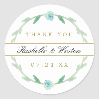 Delicate Love Wedding Thank You Stickers