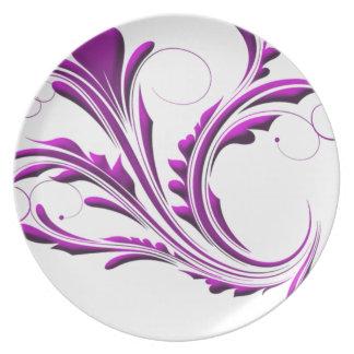 Delicate  mauve plate
