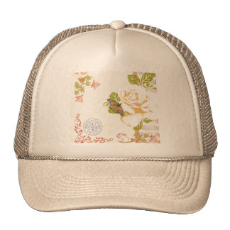 Delicate Nature Collage Hats