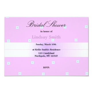 Delicate Orchid Bridal Shower Card