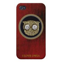 delicate owl bird iPhone 4 covers