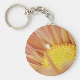 Delicate Peach and Yellow Flower Key Chains
