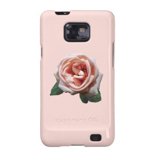 Delicate Peach-Colored Rose Samsung Galaxy SII Cover
