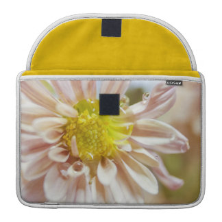Delicate Peach Flower and Water Drop Sleeve For MacBook Pro