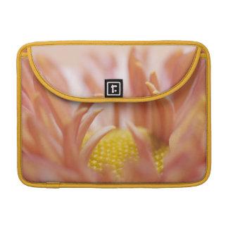 Delicate Peach Flower Sleeve For MacBooks