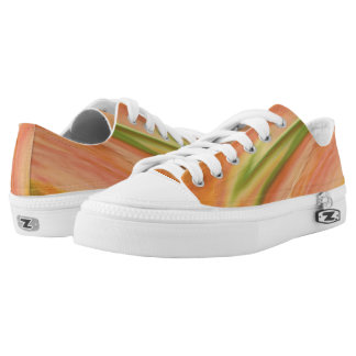 Delicate Peach Low-Top Sneakers